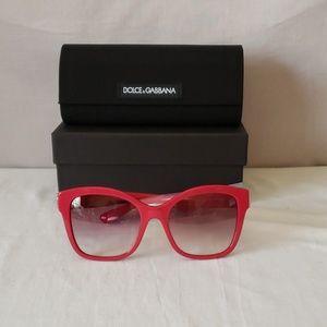 Dolce & Gabbana Fuschia 55mm Gradient Sunglasses